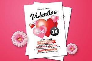 Valentine Day Dinner Flyer