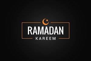Ramadan Kareem logo background