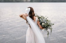 Bride with bouquet by Oleksandr Bondar Photography in People