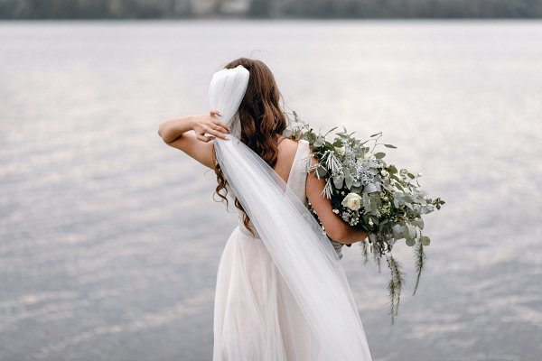 People Stock Photos: Bondart Photography - Bride with bouquet