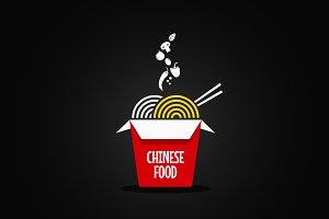 Wok noodles logo.