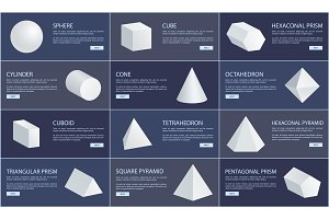 Sphere and Cube, Cone and Cuboid Geometric Set