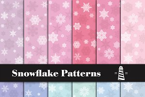 Winter Papers - Snowflake Pattern