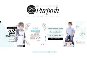 Purposh, Social Media Template Promo