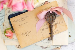antique mail and key