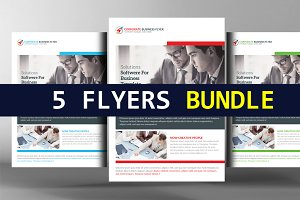 5 Digital Agency Flyers Bundle