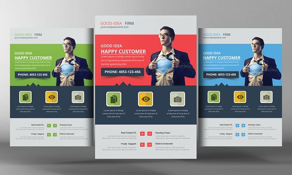 5 digital agency flyers bundle flyer templates creative market