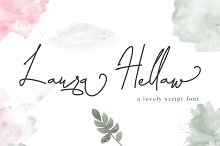 Laura Hellaw a lovely script font