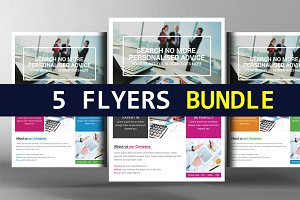 5 Global Business Agency Psd Flyers
