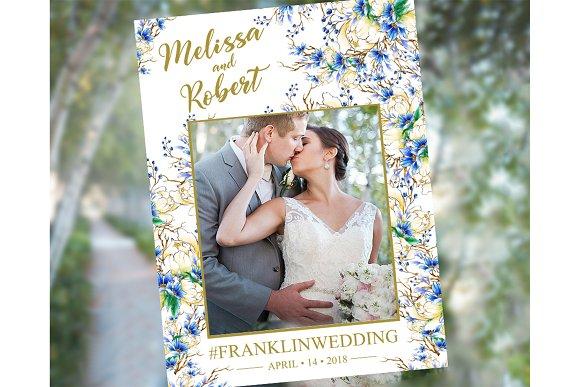 Navy, Gold Blue Wedding Photo Pro