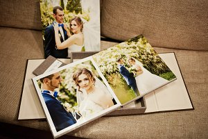 Wedding photo book album
