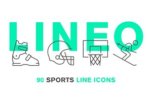 LINEO - 90 SPORTS LINE ICONS