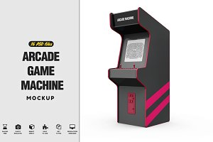 Arcade Game Machine Mockup
