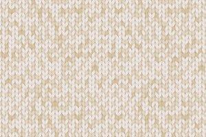 Knitted beige melange pattern