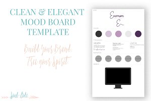 Clean + Elegant Mood Board Template