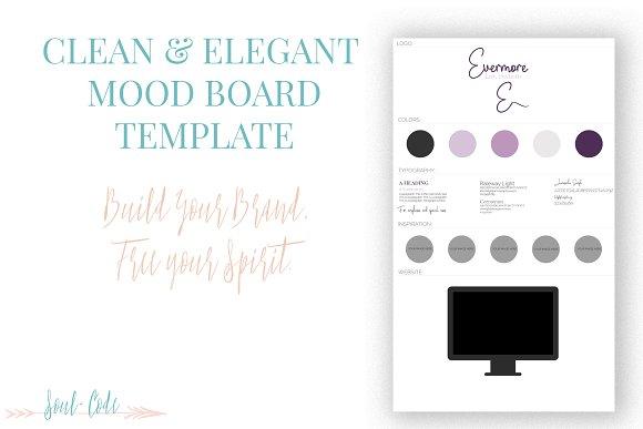 Clean + Elegant Mood Board Template