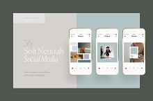 SOFT NEUTRALS - Social Media Pack by Studio Standard in Social Media
