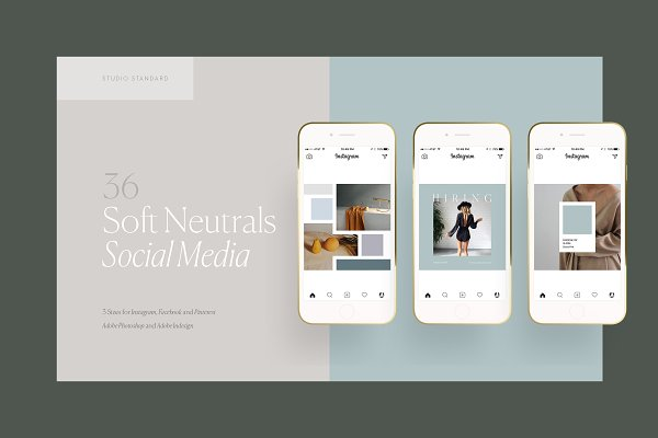 Templates: Studio Standard - SOFT NEUTRALS - Social Media Pack
