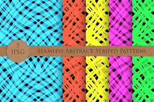 Seamless abstract striped pattern
