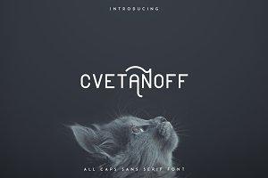 Cvetanoff Sans Serif font -30%