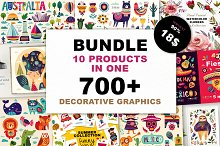 90% OFF ALL SUMMER BIG BUNDLE by Marina in Illustrations