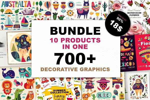 Illustrations and Illustration Products: MoleskoStudio - 90% OFF ALL SUMMER BIG BUNDLE