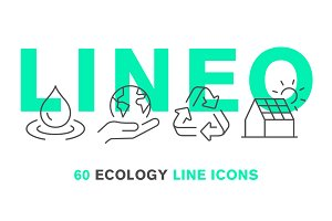 LINEO - 60 ECOLOGY LINE ICONS