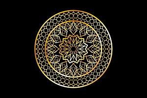 Ramadan Kareem greeting card circle