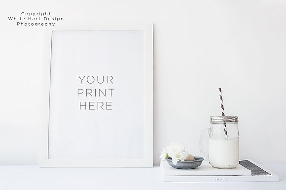 Free Frame mock up - PSD and Jpeg file