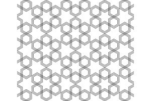 Seamless black and white hexagonal