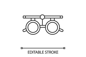 Eye exam glasses linear icon