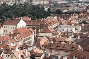 View over the rooftops of Prague
