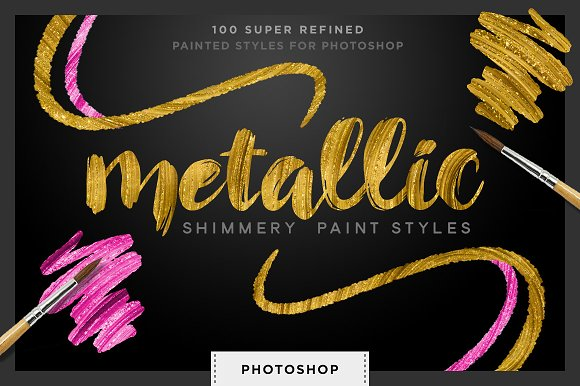 photoshop how to create metallic gold font