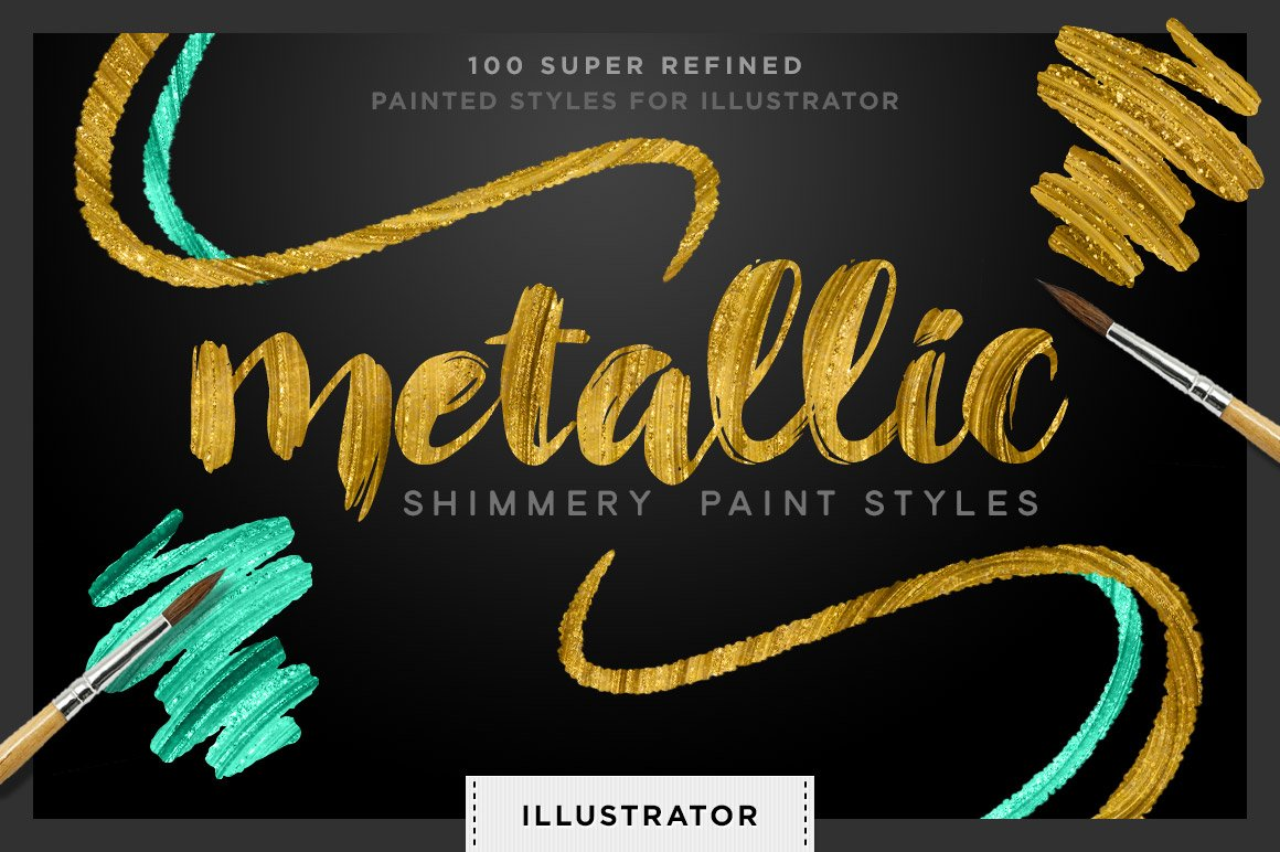 Shimmery gold styles for illustrator color palettes creative market ccuart Choice Image