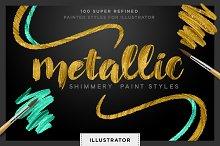 Shimmery Gold Styles for Illustrator
