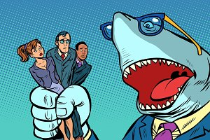 Shark boss business and office staff