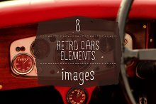 8 Retro Cars Elements