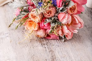 Wedding flowers, bridal bouquet