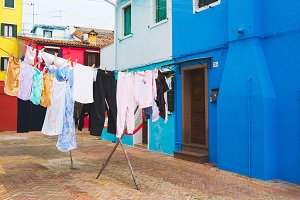 Burano - Italian colorful island.