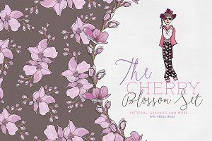 Cherry Blossom Design Set
