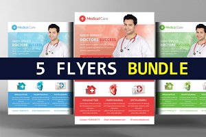 5 Premium Medical Flyers Bundle