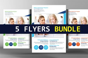 5 Medical Print Templates Bundle