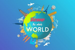 World Travel Logo Animation Video