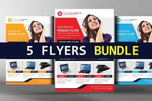 5 Product Promotion Flyers Bundle