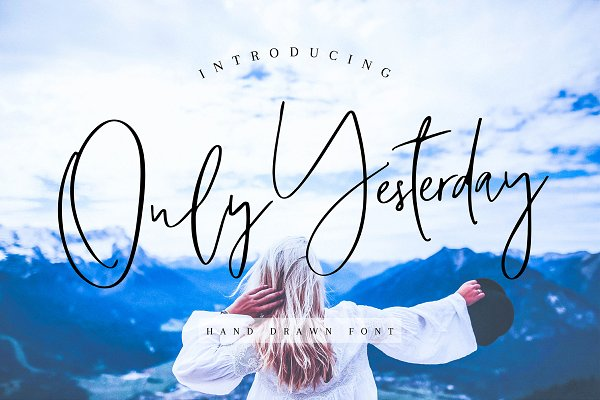 Script Fonts: Qilli - Only Yesterday Hand-drawn Font