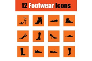 Set of footwear icons