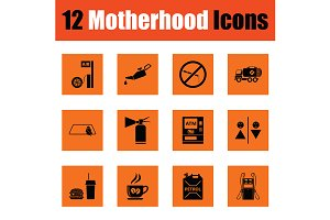 Motherhood icon set