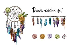 Dream catcher and vintage elements