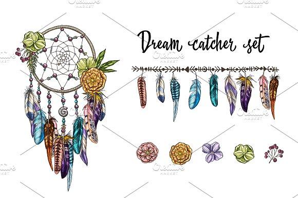 Dream catcher and vintage elements