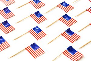 USA flags pattern